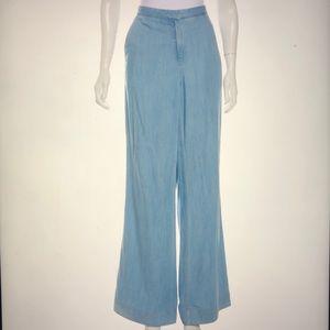 Diane Von Furstenberg chambray wise-leg pants L 10